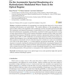 impact of the four wave quasi resonance on freak wave shapes in the ocean wataru fujimoto request pdf [ 850 x 1202 Pixel ]