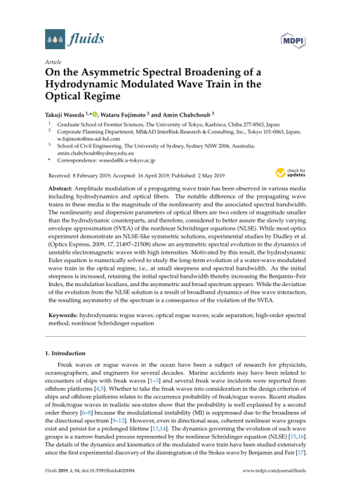 small resolution of impact of the four wave quasi resonance on freak wave shapes in the ocean wataru fujimoto request pdf