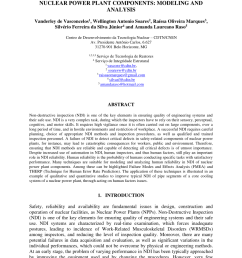 pdf human reliability in non destructive inspections of nuclear power plant components modeling and analysis [ 850 x 1203 Pixel ]