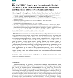 pdf the amerigo lander and the automatic benthic chamber cba two new instruments to measure benthic fluxes of dissolved chemical species [ 850 x 1100 Pixel ]