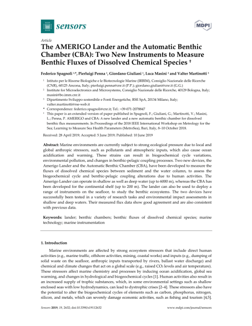 small resolution of  pdf the amerigo lander and the automatic benthic chamber cba two new instruments to measure benthic fluxes of dissolved chemical species