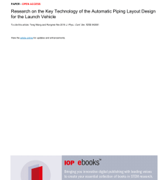 pdf research on the key technology of the automatic piping layout design for the launch vehicle [ 850 x 1203 Pixel ]