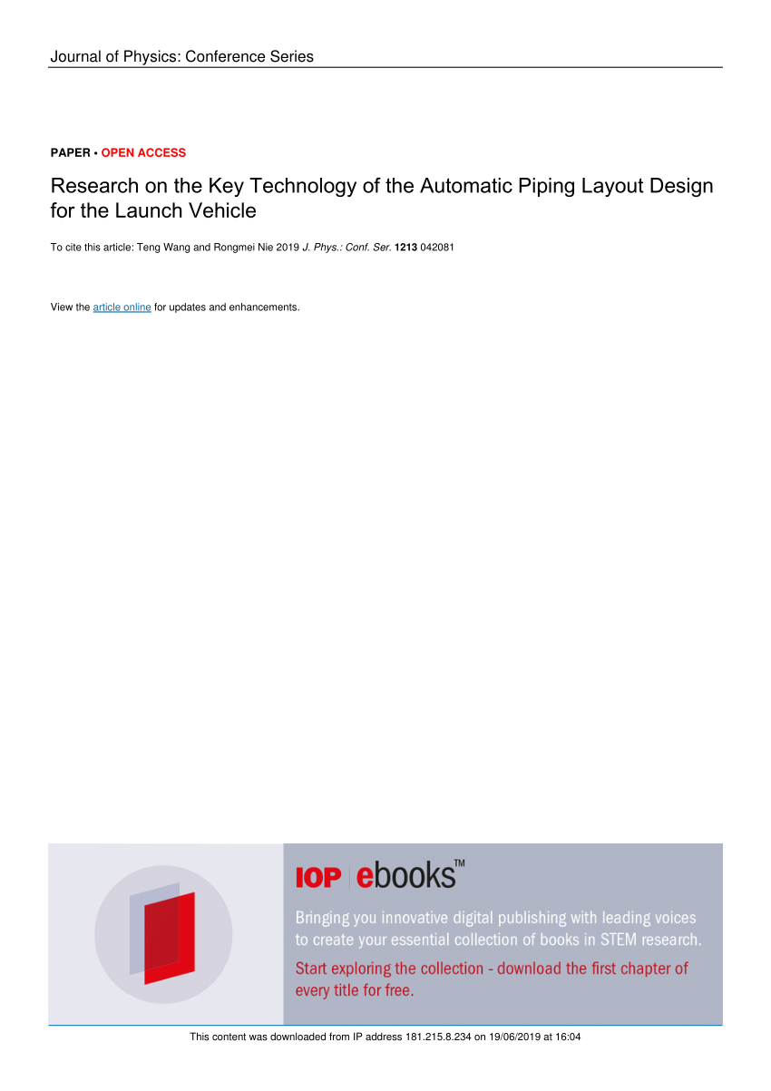 hight resolution of  pdf research on the key technology of the automatic piping layout design for the launch vehicle