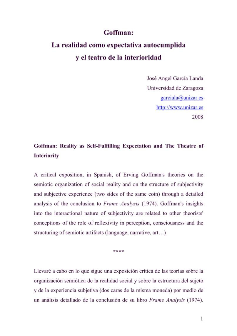 Ungewöhnlich Erving Goffman Frame Analyse Pdf Ideen - Rahmen Ideen ...