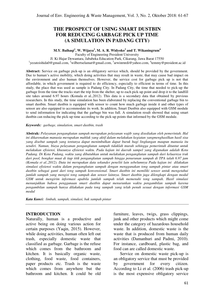 hight resolution of  pdf the design and implementation of smart trash bin