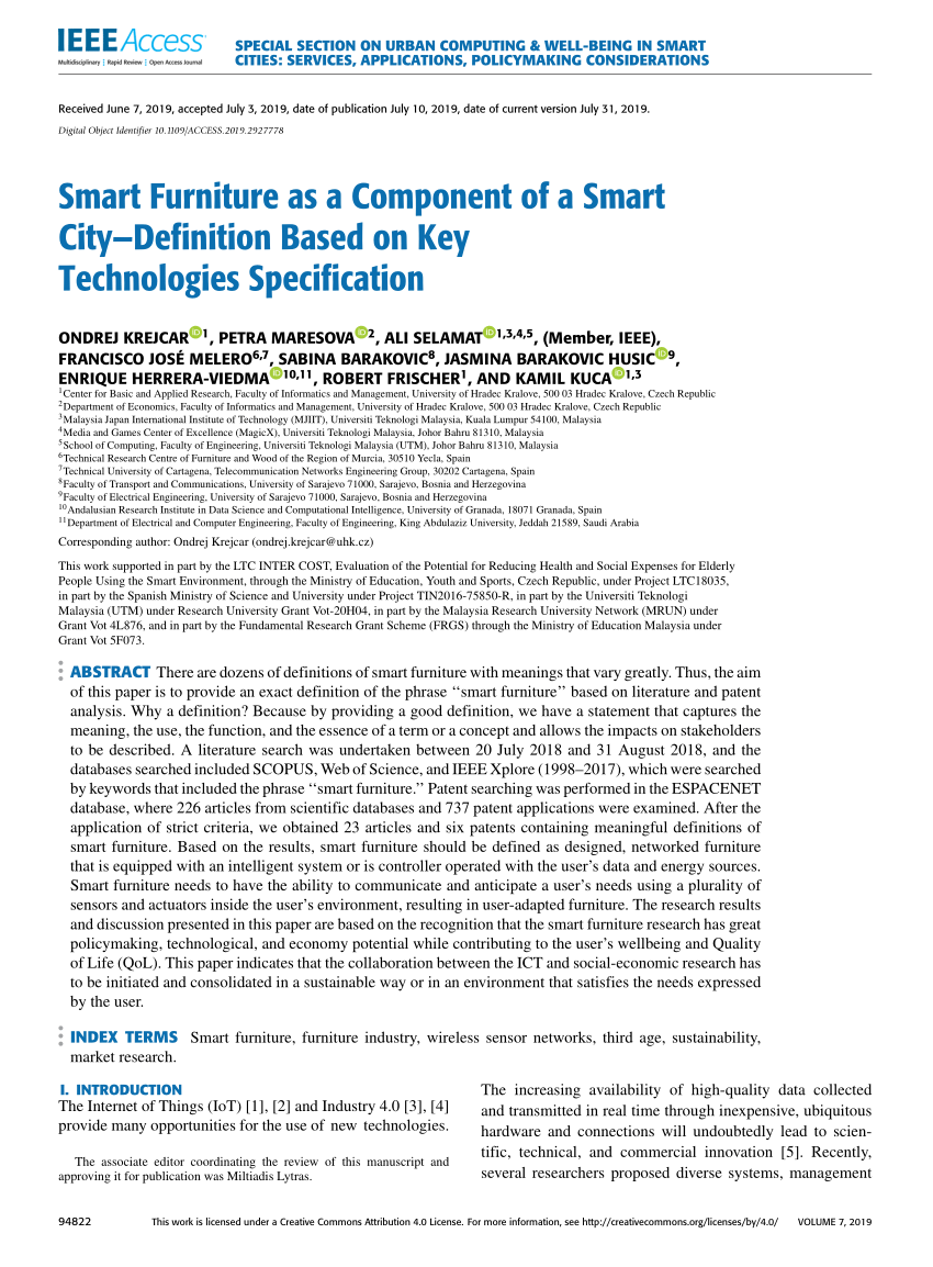 pdf smart furniture as a component of