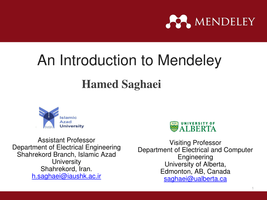 (PDF) An Introduction to Mendeley