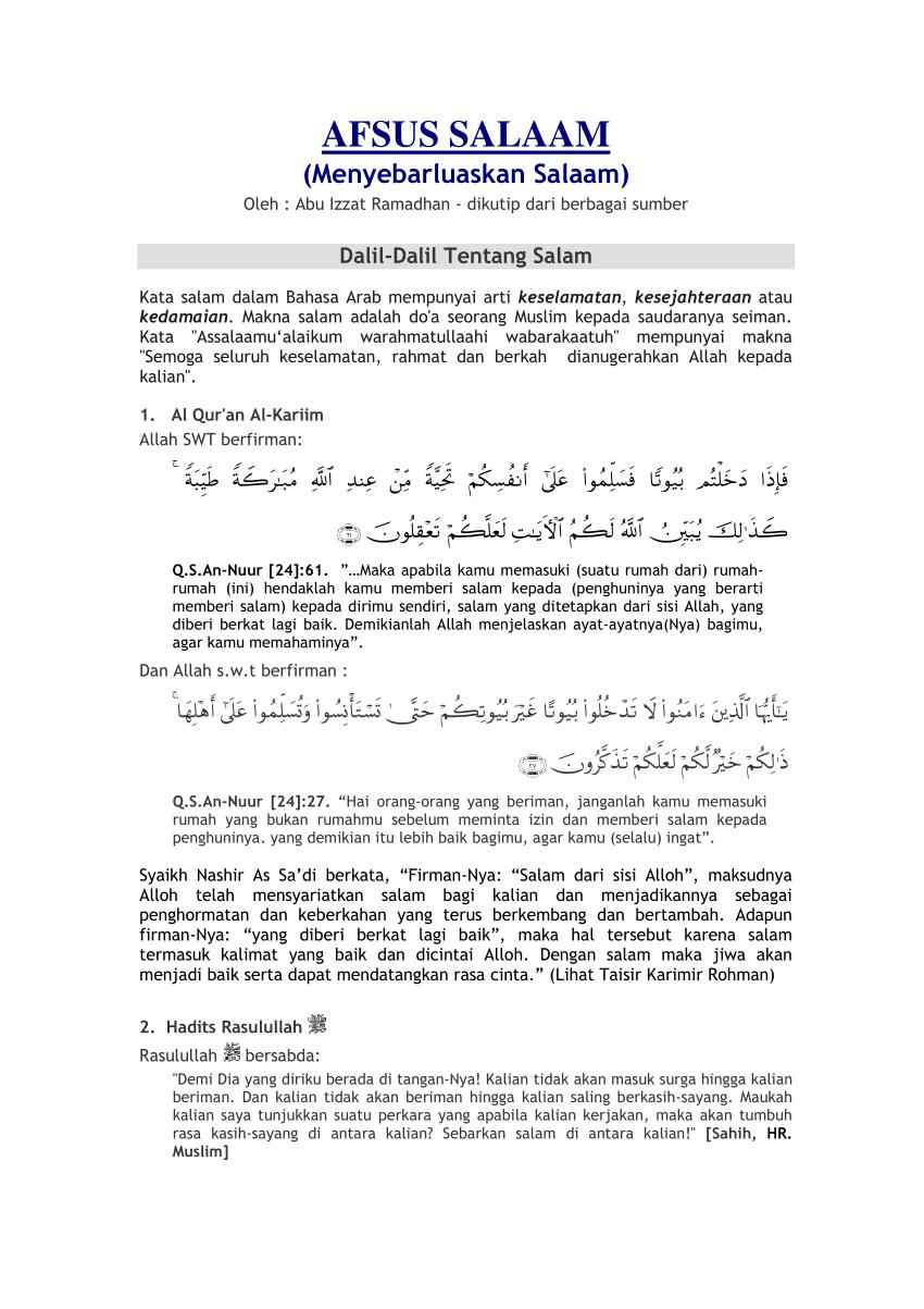Tulisan Salam Yang Benar : tulisan, salam, benar, AFSUS, SALAAM, (Menyebarluaskan, Salaam)