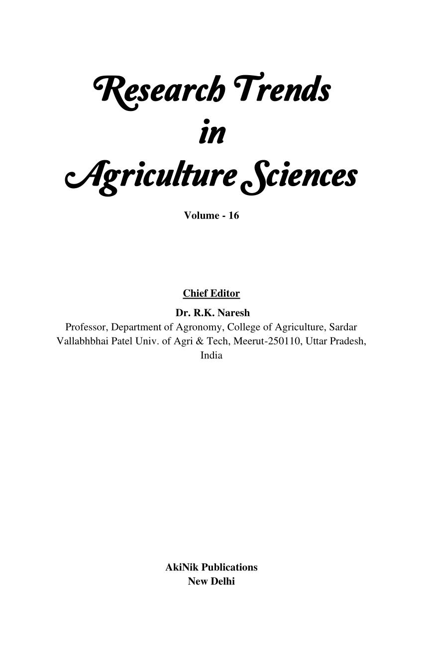 (PDF) Organic Rice Production Technology