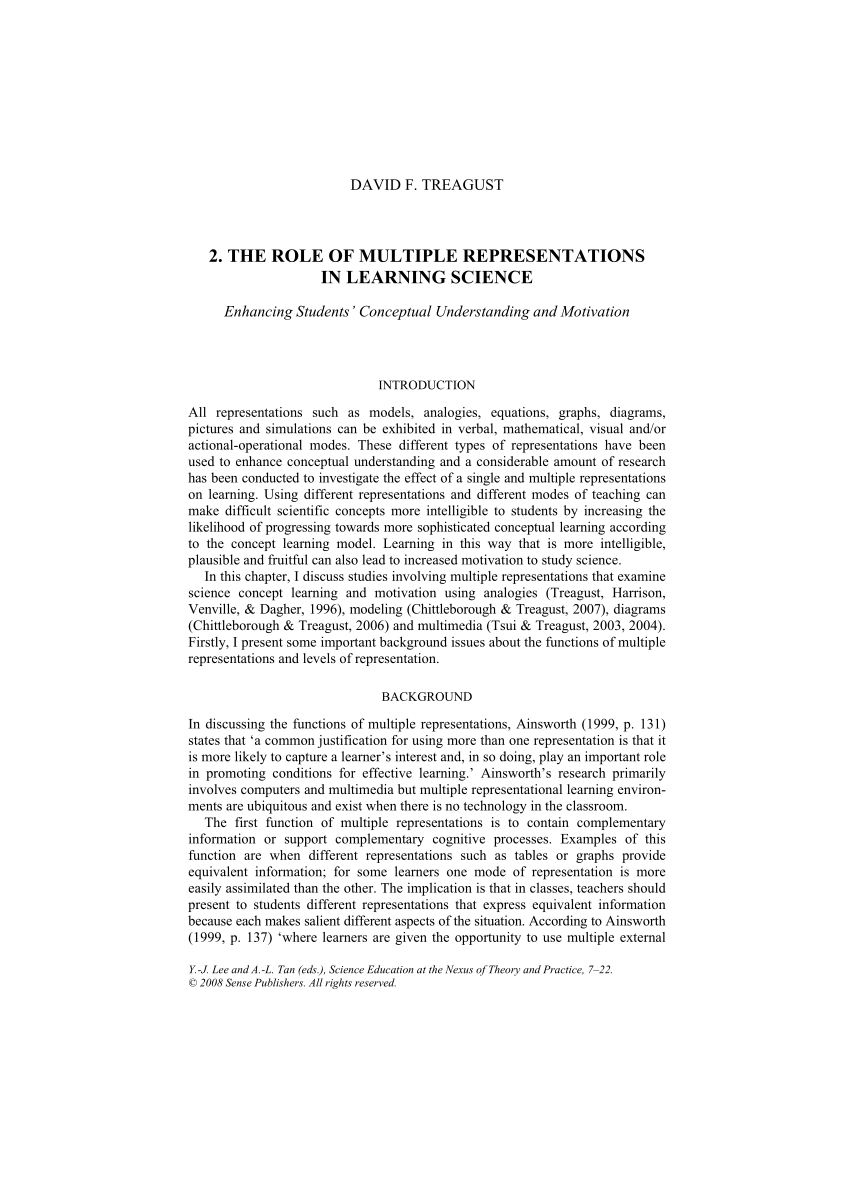 medium resolution of PDF) The Role of Multiple Representations in Learning Science: Enhancing  Students' Conceptual Understanding and Motivation