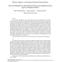 PDF) Effects of Jigsaw on Teaching Chemical Nomenclature EFFECTS OF JİGSAW  ON TEACHİNG CHEMİCAL NOMENCLATURE [ 1200 x 850 Pixel ]