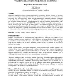 PDF) TEACHING READING USING JUMBLED SENTENCES [ 1202 x 850 Pixel ]
