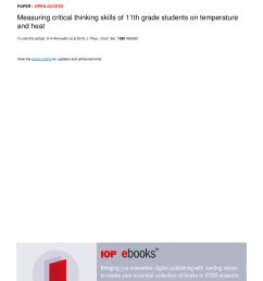 PDF) Measuring critical thinking skills of 11th grade students on  temperature and heat [ 1203 x 850 Pixel ]