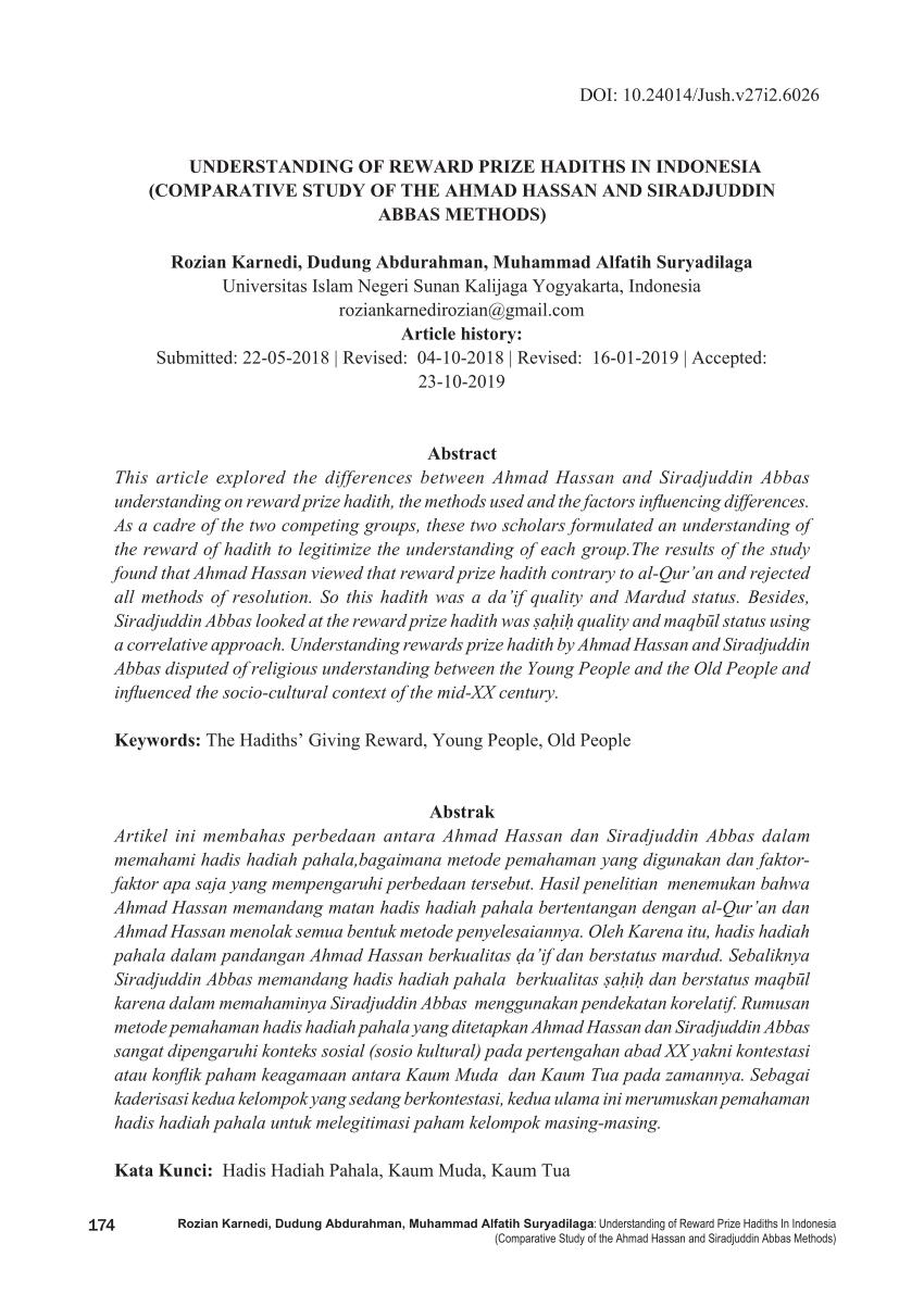 Arti Nama Fathir Dalam Islam : fathir, dalam, islam, Understanding, Reward, Prize, Hadiths, Indonesia, (Comparative, Study, Ahmad, Hassan, Siradjuddin, Abbas, Methods)