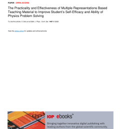 PDF) The Practicality and Effectiveness of Multiple Representations Based  Teaching Material to Improve Student's Self-Efficacy and Ability of Physics  Problem Solving [ 1203 x 850 Pixel ]