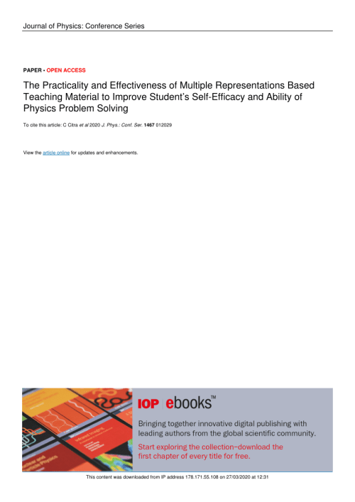 small resolution of PDF) The Practicality and Effectiveness of Multiple Representations Based  Teaching Material to Improve Student's Self-Efficacy and Ability of Physics  Problem Solving