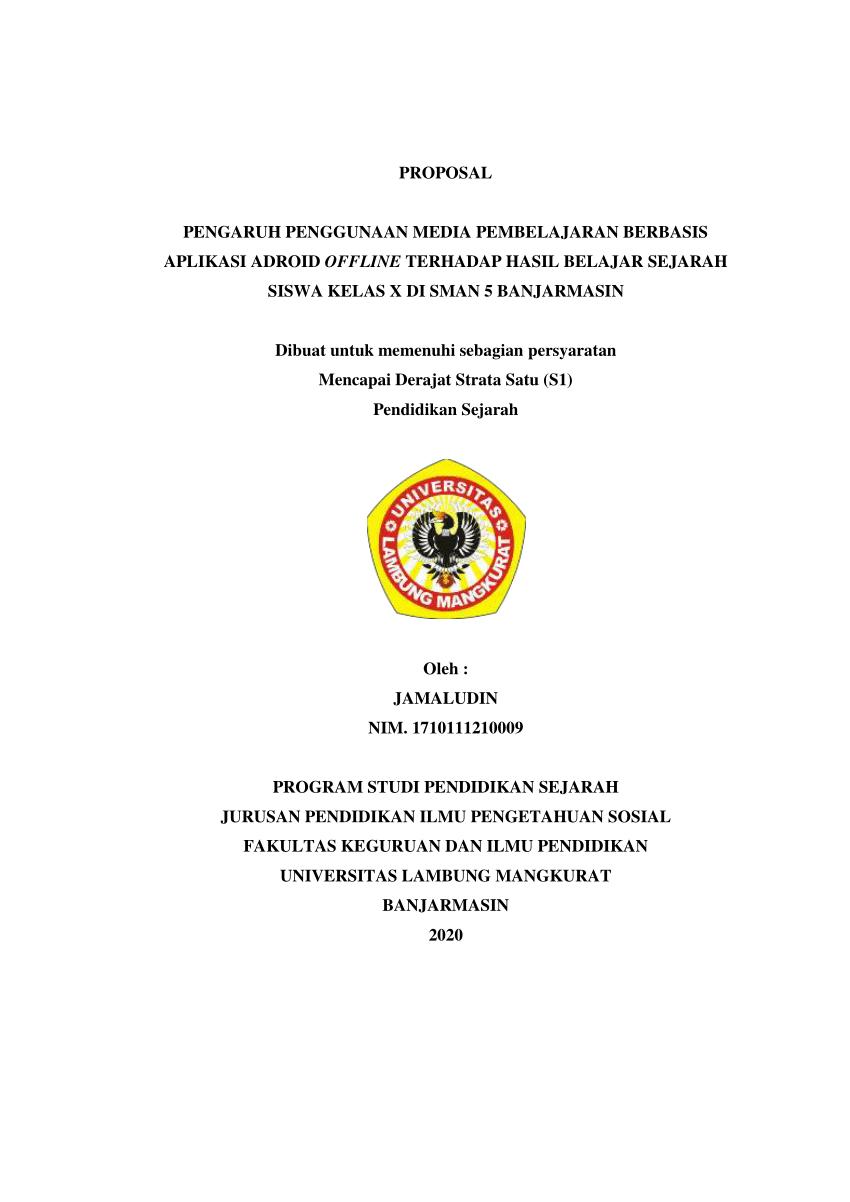 Contoh Proposal Penelitian Kualitatif Pendidikan : contoh, proposal, penelitian, kualitatif, pendidikan, Proposal, Kuantitatif, JAMALUDIN, (1710111210009)
