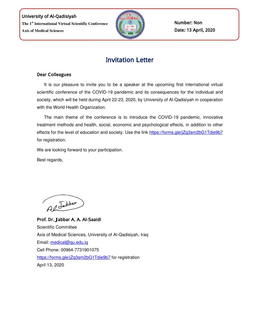 pdf invitation letter dear colleagues