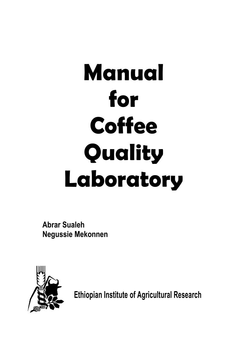 (PDF) Manual for Coffee Quality Laboratory