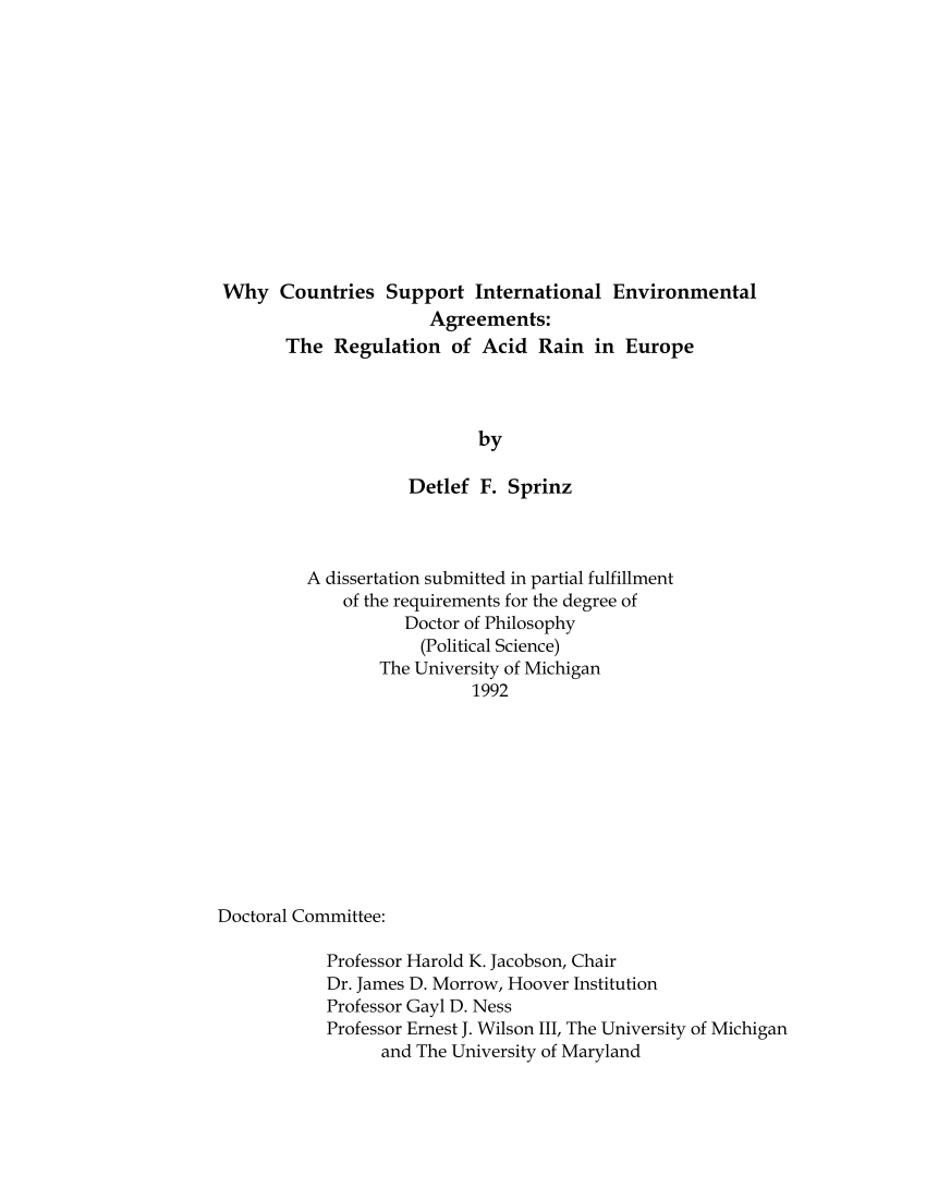 hight resolution of  pdf why countries support international environmental agreements the regulation of acid rain in europe