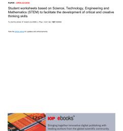 PDF) Student worksheets based on Science [ 1203 x 850 Pixel ]