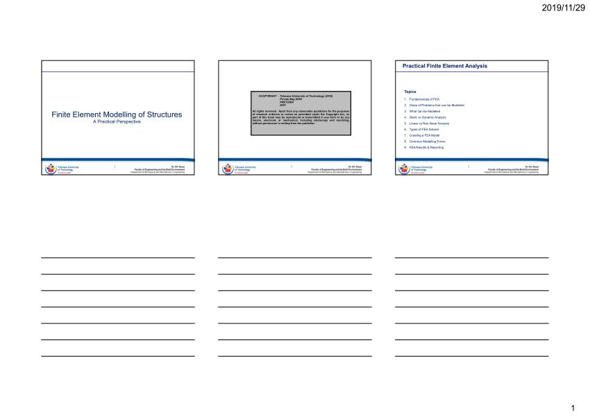 (PDF) Community Project: Finite Element Modelling of