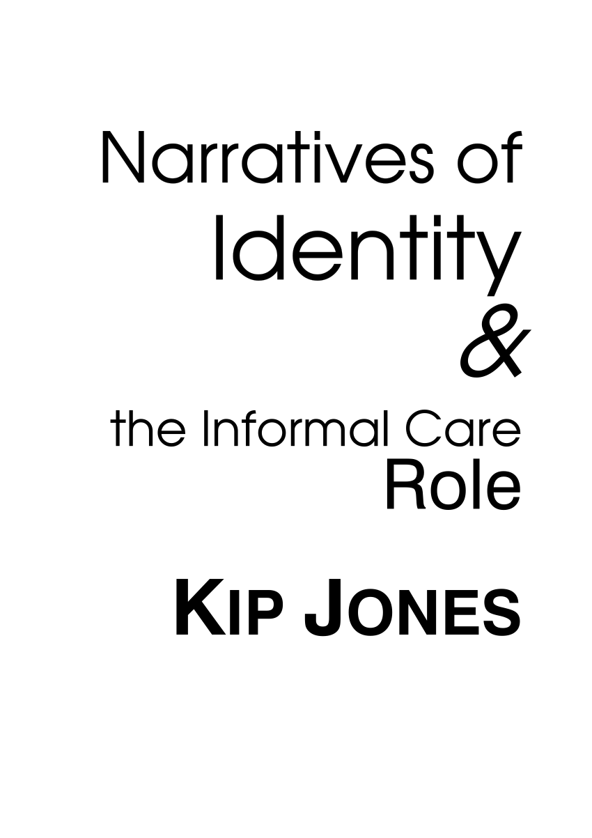 (PDF) Narratives of Identity and the Informal Care Role