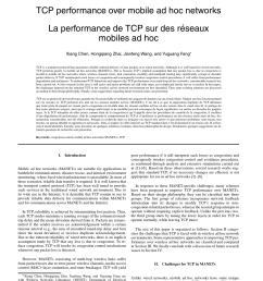 pdf tcp performance over mobile ad hoc networks [ 850 x 1100 Pixel ]