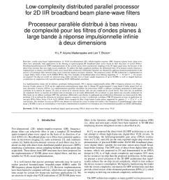 pdf low complexity distributed parallel processor for 2d iir broadband beam plane wave filters [ 850 x 1100 Pixel ]