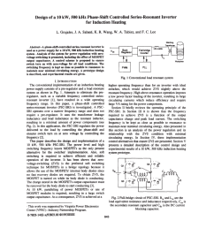pdf design of a 10 kw 500 khz phase shift controlled series resonant inverter for induction heating [ 850 x 1100 Pixel ]