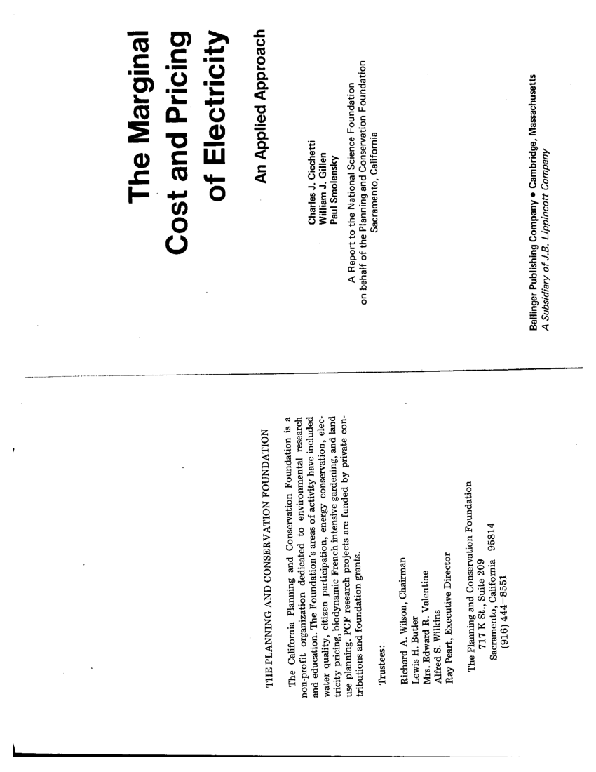 (PDF) The marginal cost and pricing of electricity: An