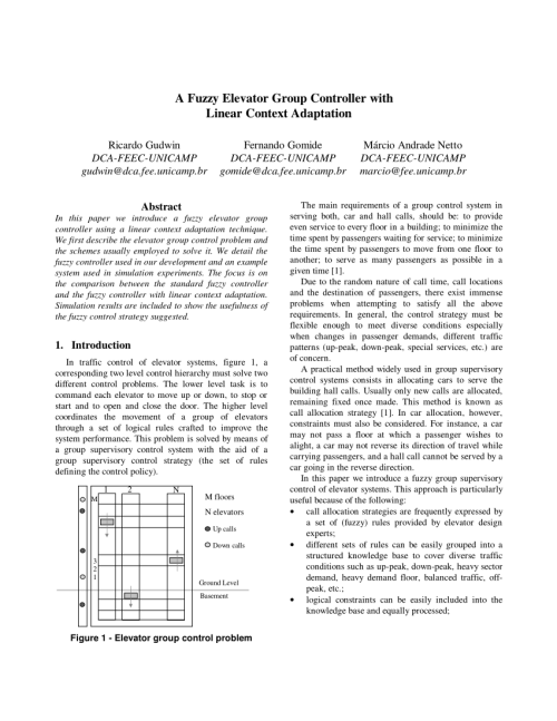 small resolution of a design for elevator group controller of building using adaptive dual fuzzy algorithm
