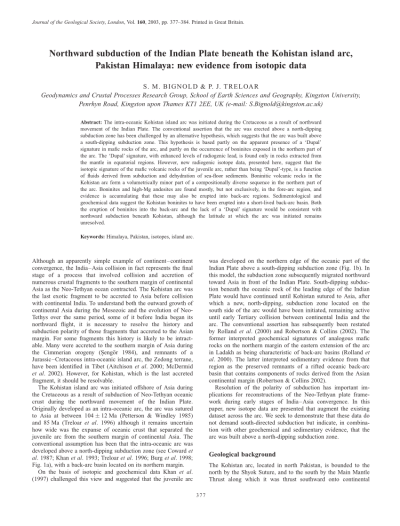 (PDF) Northward subduction of the Indian Plate beneath the ...
