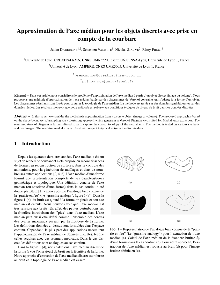hight resolution of medial axis approximation with discrete centroidal voronoi diagrams on discrete data request pdf