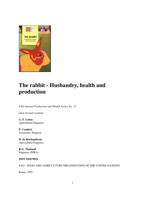 small resolution of  pdf the rabbit husbandry health and production