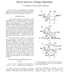 pdf analysis of non volatile latch circuits with ferroelectric gatefield effect transistors for low power and low voltage operation [ 850 x 1203 Pixel ]