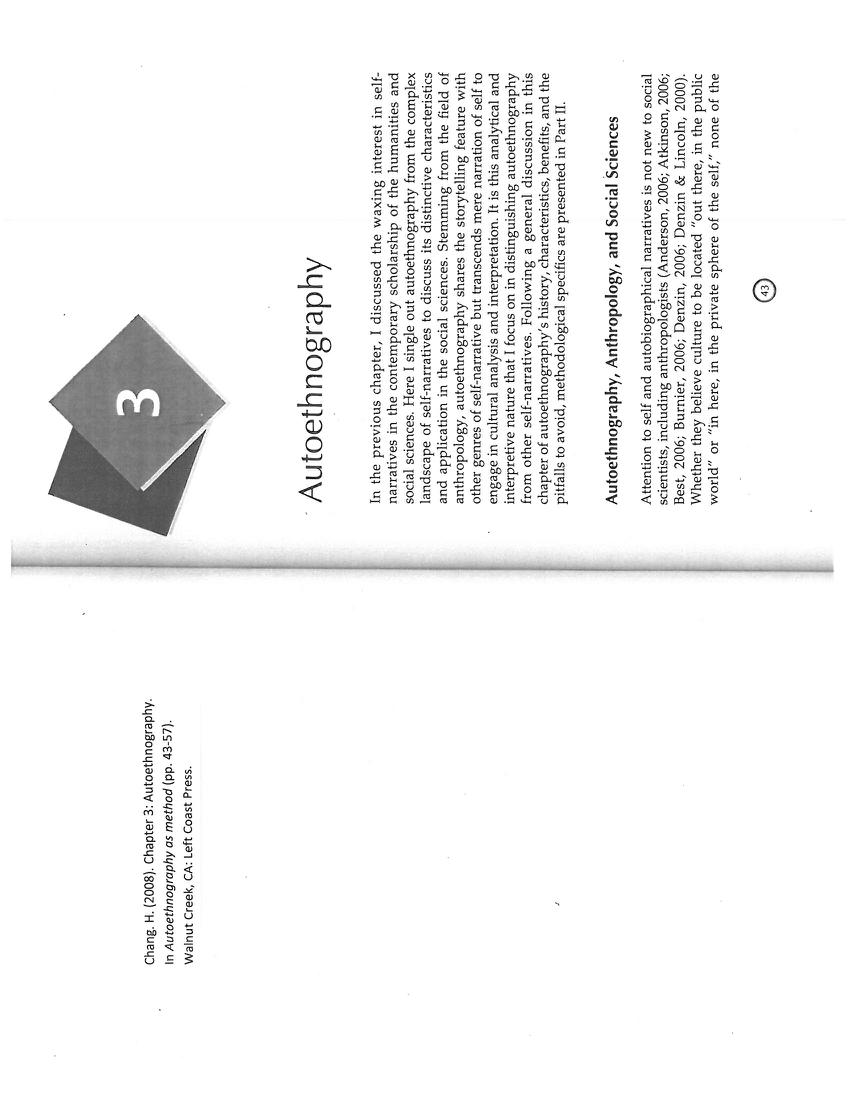 (PDF) Autoethnography as Method