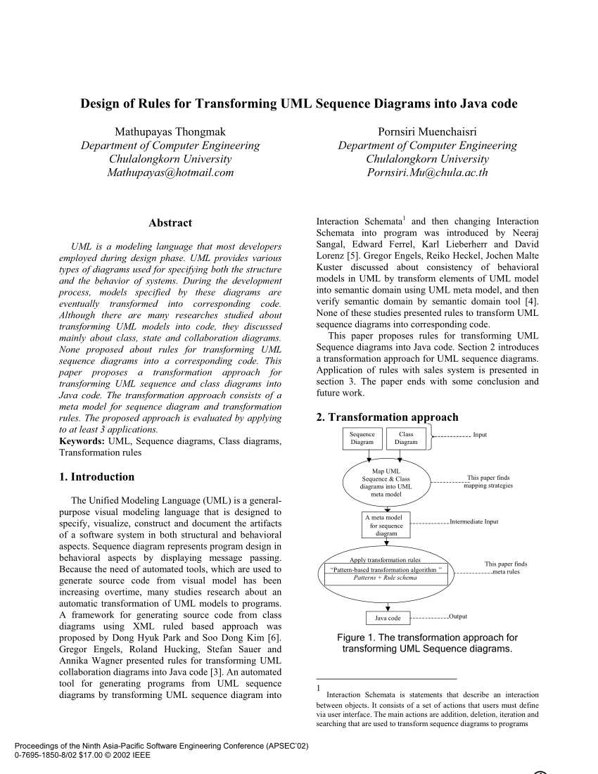 medium resolution of  pdf design of rules for transforming uml sequence diagrams into java code