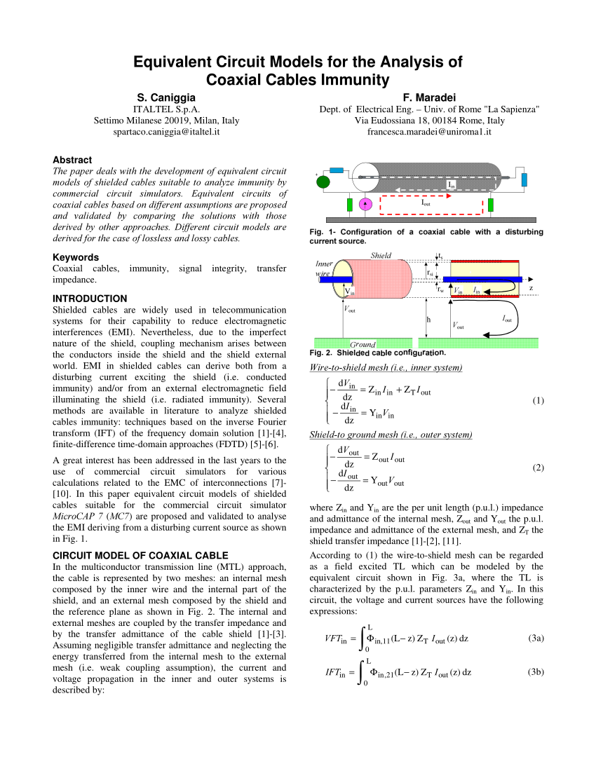 medium resolution of  pdf equivalent circuit models for the analysis of coaxial cables immunity