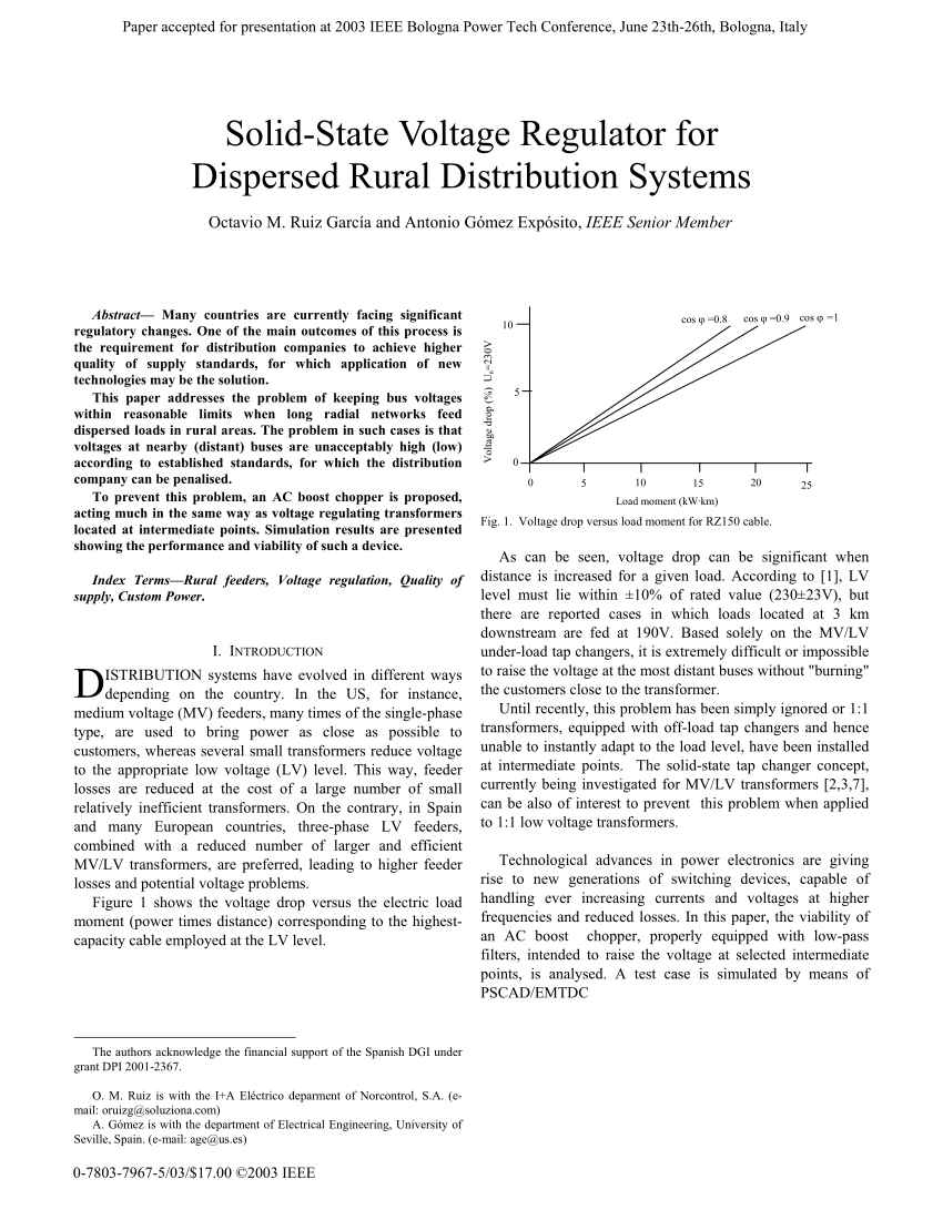 hight resolution of  pdf solid state voltage regulator for dispersed rural distribution systems