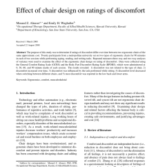 Ergonomic Chair Justification Outdoor Plastic Chairs Kmart Pdf Effect Of Design On Ratings Discomfort