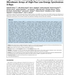 pdf high precision radiosurgical dose delivery by interlaced microbeam arrays of high flux low energy synchrotron x rays [ 850 x 1098 Pixel ]