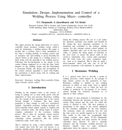 pdf simulation design implementation and control of a welding process using micro controller [ 850 x 1100 Pixel ]