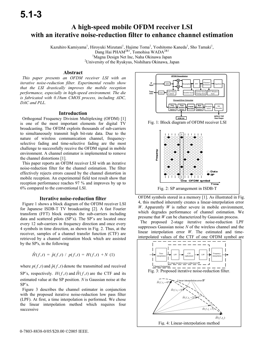 hight resolution of  pdf a high speed mobile ofdm receiver lsi with an iterative noise
