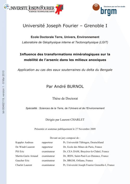 small resolution of  pdf influence des transformations min ralogiques sur la mobilit de l arsenic dans les milieux anoxiques application au cas des eaux souterraines du