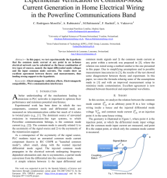 pdf experimental verification of common mode current generation in home electrical wiring in the powerline communications band [ 850 x 1100 Pixel ]