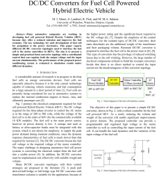 pdf dc dc converters for fuel cell powered hybrid electric vehicle [ 850 x 1100 Pixel ]