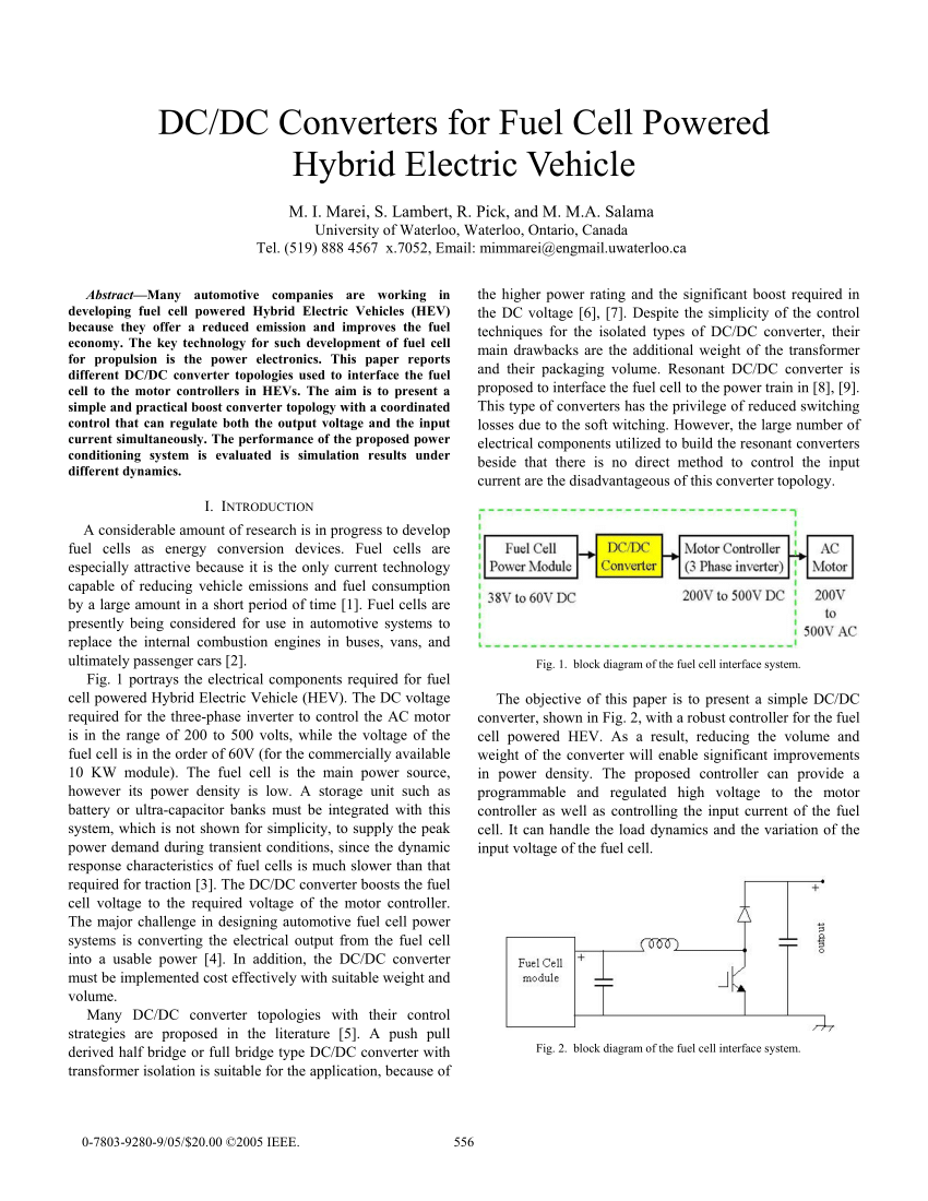 medium resolution of  pdf dc dc converters for fuel cell powered hybrid electric vehicle