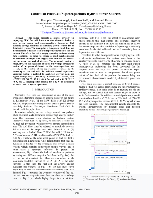 small resolution of  pdf control of fuel cell supercapacitors hybrid power sources