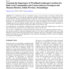 Sofala Show Horse Program Leather Sectional Sofas Made Usa Pdf Assessing The Importance Of Woodland Landscape Locations For Both Local Communities And Conservation In Gorongosa Muanza Districts